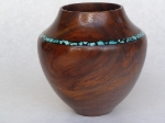 Walnut with Inlaid Turquoise