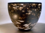 Black Alabaster with Ebony foot & rim