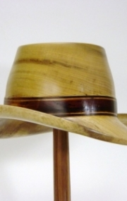 Fedora in Spalted Myrtle and Black Walnut